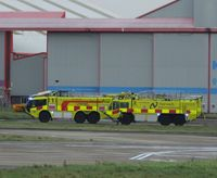 Norwich International Airport, Norwich, England United Kingdom (EGSH) - Two fire tenders - by Keith Sowter