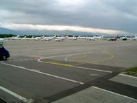 Geneva Cointrin International Airport - Executive aircraft ramp - by Keith Sowter