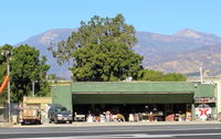 Santa Paula Airport (SZP) - Once Hangar/Home of late actor Steve McQueen and wife; he  taught to fly by SZP's Pete Mason, CFI. Was a fearless student. Location: near Rwy 22. On fund-raising Aviation Museum day. - by Doug Robertson