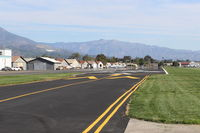 Santa Paula Airport (SZP) - View of Rwy 04 from end right side overrun. Length 2,713 ft, width 60 ft, paved, good condition, Elev, 243'. Use right hand pattern for 04. No straight in approaches. Grass short Runway 04 Right, 22 Left next to paved runway is well kept for taildraggers. - by Doug Robertson