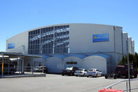 Launceston Airport - The Sharp Airlines hangar also houses the small check-in and passenger waiting area. - by Micha Lueck