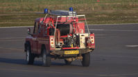Turweston Aerodrome - Fire Land Rover going to pick up some FOD from next to the runway - by Adam Loader