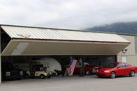 Santa Paula Airport (SZP) - 8 EAGLES TAXI, helicopter home. - by Doug Robertson