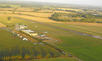 Old Buckenham Airport - Looking north - taken from a hot air balloon - by Keith Sowter