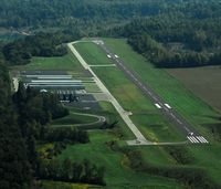 Greene County-lewis A. Jackson Regional Airport (I19) - Updated aerial with new ramp, 25 runup, and removal of taxiway C. - by MacAir