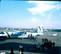 London Southend Airport - British Air Ferries arrival , Southend, February 1977 - by Paul Howlen