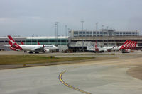 Melbourne International Airport - lots of flying kangaroos at Tullamarine - by Micha Lueck