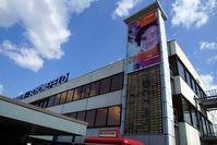 Berlin Brandenburg International Airport - Departures displayed outside terminal A - by Tomas Milosch