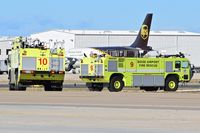 Boise Air Terminal/gowen Fld Airport (BOI) - BOI ARFF units on a practice run. - by Gerald Howard