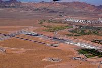 Boulder City Municipal Airport, Boulder City, Nevada United States (BLD) - Boulder, Nevada (taken from N228SA) - by Micha Lueck
