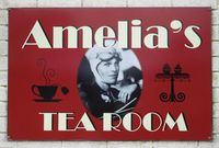 Pembrey Airport - New sign on the airport cafe, now Amelia's Tea Room. - by Roger Winser