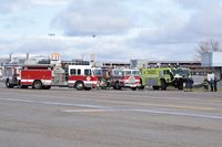 Boise Air Terminal/gowen Fld Airport (BOI) - Boise City Fire training with ARFF units. - by Gerald Howard