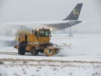 Boise Air Terminal/gowen Fld Airport (BOI) - Outside crews busy on a snow filled day. - by Gerald Howard