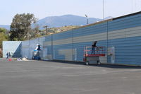 Santa Paula Airport (SZP) - Repainting Hangars in the western section of the airport; technically this is an off-original airport area. Hangar Owners here pay small fee annually to taxi to/from the 04-22 runway.  - by Doug Robertson