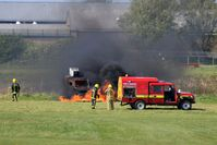 City Airport Manchester - Fire training at City Airport Manchester - by Guitarist