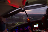Robertson Field Airport (4B8) - Turning final at Robertson at sunset - by Dave G