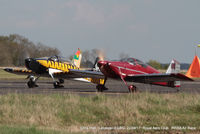 Leicester Airport - heading for the start line at the Royal Aero Club 3R's air race at Leicester - by Chris Hall
