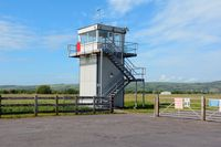 Pembrey Airport - The airport's control tower. - by Roger Winser