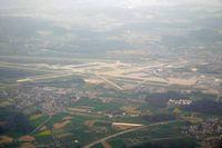 Zurich International Airport - Taken from HB-JVE, ZRH-HAJ - by Micha Lueck