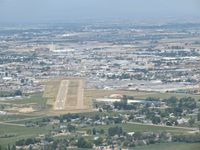 Nampa Municipal Airport (MAN) - Turning for RWY 11 downing. Photo taken from N5017N, B-17G. - by Gerald Howard