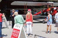 Santa Paula Airport (SZP) - Aviation Museum of Santa Paula Featured Aircraft Presentation-N675LF 1944 Dehavilland DH82A TIGER MOTH. Owner pilot, moderator David Watson speaking. - by Doug Robertson