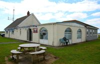 Pembrey Airport - Flight office and Amelias Tearoom. - by Roger Winser