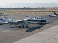 Livermore Municipal Airport (LVK) - Visitor's Ramp @ Livermore, CA from observation deck - by Steve Nation
