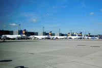 Frankfurt International Airport - Amazing line-up of VLAs (B747-8i and A380) - by Micha Lueck