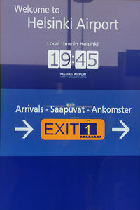 Helsinki-Vantaa Airport - All information is given in three languages: English, Finnish, and Finland's second official language Swedish - by Tomas Milosch