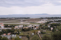 Hyères Le Palyvestre Airport - french navy base in the foreground, civil airport in the background - by olivier Cortot