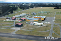Christchurch International Airport - Aero club facility at Christchurch International, view from climbout off RW29 - by Peter Lewis