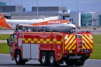 Manchester Airport, Manchester, England United Kingdom (EGCC) - man egcc airport fire truck - by andysantini