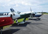Pembrey Airport - Visiting aircraft at the airport. - by Roger Winser