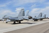Boise Air Terminal/gowen Fld Airport (BOI) - F-18 jets from VX-9 Vampires stopping in for refueling. - by Gerald Howard