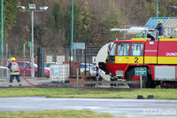 Dundee Airport - Dundee Fire & Rescue training - by Clive Pattle