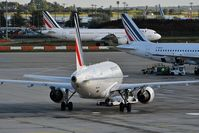 Paris Charles de Gaulle Airport (Roissy Airport) - Hub Air France CDG terminal 2F, AF1494 pushback to Budapest (BUD) - by JC Ravon - FRENCHSKY
