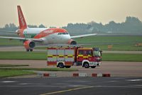 Manchester Airport, Manchester, England United Kingdom (EGCC) - man airport fire truck - by andysantini