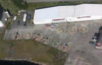 Ketchikan /temsco H/ Heliport (17AK) - Temsco Helicoptor base.  Stiched from several photos while flying by in N409PA - by Timothy Aanerud