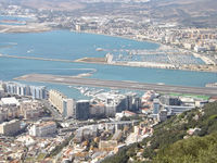 Gibraltar Airport - View from the rock. - by Nuno Filipe Lé Freitas