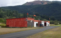 Strom Field Airport (39P) - Hangars at Strom Field airport, Morton WA - by Jack Poelstra