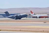 Boise Air Terminal/gowen Fld Airport (BOI) - C-17A departing RWY 28L. - by Gerald Howard