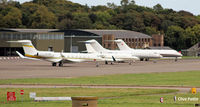 RAF Leuchars - GA line-up at Leuchars for the Dundee Links Golf Championships at nearby St Andrews. - by Clive Pattle