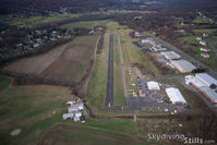 Ellington Airport (7B9) - Ellington Airport aerial. - by Dave G