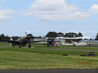 Ardmore Airport - trio of oldies at open day - by magnaman