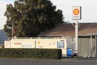 Santa Paula Airport (SZP) - SZP Self-serve SHELL 100LL Fuel Dock, note price increase. Location: midfield North. - by Doug Robertson
