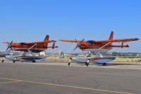 Boise Air Terminal/gowen Fld Airport (BOI) - Two Quest Kodiak 100s belonging to the Fish & Wildlife Service, U.S. Dept. of the Interior parked for maintenance. - by Gerald Howard