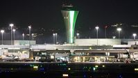 San Francisco International Airport (SFO) - Christmas colors for SFO. - by Clayton Eddy