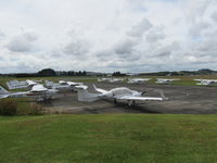 Ardmore Airport - busy (closed) flying school ramp today - by magnaman