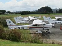 Ardmore Airport - seven cessnas and a cherokee - that's just half of the ramp today - by magnaman
