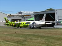 Hamilton International Airport, Hamilton New Zealand (NZHN) - central area of airport with 2 x medic MU-2 - only ones in NZ - by magnaman